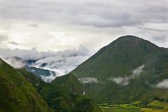 Valle del vulcano Immagine Stock