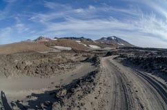 Valle del vulcano di Gorely Fotografia Stock Libera da Diritti