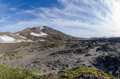 Valle del vulcano di Gorely Immagine Stock Libera da Diritti