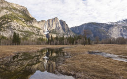 Valle del Yosemite alla vista del traforo Fotografie Stock Libere da Diritti