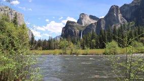 Valle del Yosemite alla vista del traforo stock footage