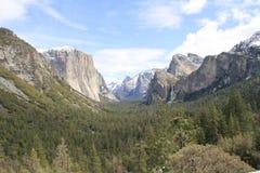 Valle del Yosemite dalla vista del traforo in Yosemite NP Fotografie Stock Libere da Diritti