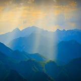 Valle dell'alta montagna Fotografia Stock Libera da Diritti