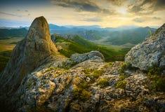 Valle dell'alta montagna della Crimea Fotografia Stock Libera da Diritti