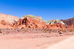 Valle dell'arcobaleno, Cile immagine stock libera da diritti