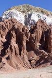 Valle dell'arcobaleno nel deserto di Atacama nel Cile Immagini Stock