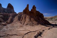Valle dell'arcobaleno nel deserto di Atacama nel Cile Fotografie Stock Libere da Diritti