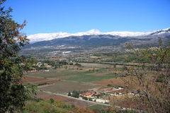 Valle dell Aterno, Abruzzo, Italien Royaltyfria Foton