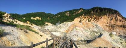 Valle dell'inferno di Jigokudani fotografia stock libera da diritti