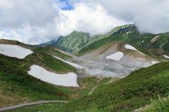 Valle dell'inferno a Murodo immagini stock libere da diritti