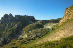 Valle dell'orizzontale del mangart dall'est Fotografia Stock Libera da Diritti
