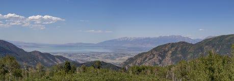 Valle dell'Utah dal ciclo di Nebo Fotografie Stock