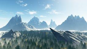 Valle della foresta immagine stock