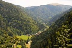 Valle della foresta nera Fotografie Stock Libere da Diritti
