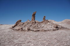 Valle della luna, Atacama, Cile Fotografie Stock Libere da Diritti