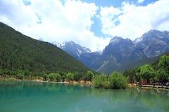 Valle della luna blu, Lijiang, Cina Fotografie Stock