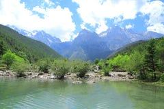 Valle della luna blu, Lijiang, Cina Immagini Stock Libere da Diritti