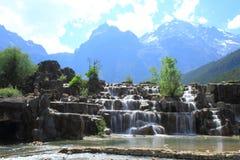 Valle della luna blu, Lijiang, Cina Fotografia Stock Libera da Diritti