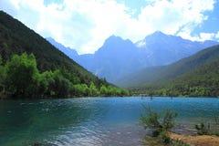 Valle della luna blu, Lijiang, Cina Immagini Stock