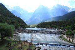 Valle della luna blu, Lijiang, Cina Immagine Stock