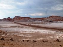 Valle della Luna - de Vallei van de Maan (Atacama Woestijn, Chili) Stock Foto