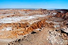 Valle della luna, deserto di Atacama Fotografia Stock