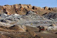 Valle della luna - deserto di Atacama - il Cile Fotografia Stock Libera da Diritti