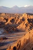 Valle della luna nel deserto di Atacama vicino a San Pedro Fotografia Stock Libera da Diritti