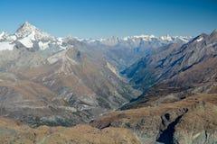 Valle della materia in Svizzera Fotografia Stock