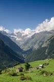 Valle della montagna fotografie stock