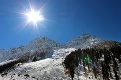 Valle della montagna al Kashmir in India Fotografia Stock