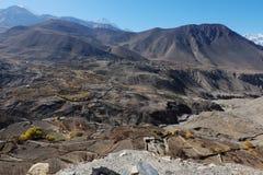 Valle della montagna in autunno Fotografia Stock Libera da Diritti