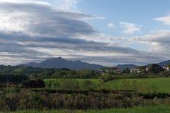 Valle della montagna di Rhune Fotografia Stock