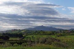 Valle della montagna di Rhune Fotografie Stock Libere da Diritti