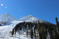Valle della montagna di Snowy a Sonmarg, Kashmir in India Fotografia Stock Libera da Diritti