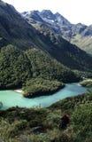 Valle della montagna e LAK scenici Fotografia Stock Libera da Diritti