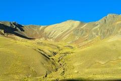 Valle della montagna nelle Ande Immagini Stock Libere da Diritti