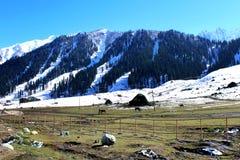 Valle della montagna della neve di inverno Fotografia Stock Libera da Diritti