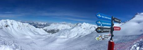 Valle della neve Fotografia Stock