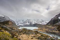 Valle della puttana, isola del sud Nuova Zelanda Fotografia Stock Libera da Diritti