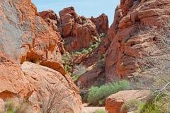 Valle della roccia rossa fotografia stock libera da diritti