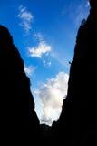 Valle della siluetta Immagini Stock