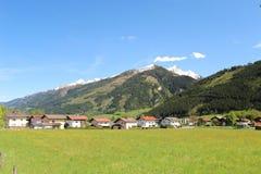 Valle delle alpi austriache Fotografia Stock