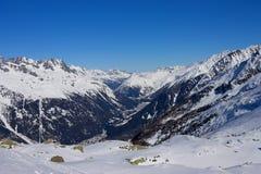 Valle delle alpi, Chamonix Fotografie Stock