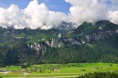 Valle delle cascate, Lauterbrunnen, Svizzera Immagini Stock Libere da Diritti