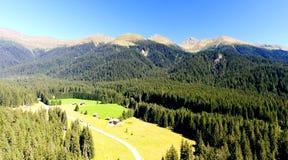 Valle delle dolomia, vista panoramica delle alpi italiane Fotografie Stock