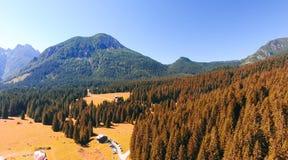 Valle delle dolomia, vista panoramica delle alpi italiane Fotografie Stock Libere da Diritti