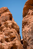 Valle delle formazioni rocciose del fuoco Fotografia Stock