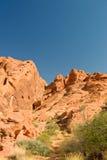 Valle delle formazioni rocciose del fuoco Immagine Stock
