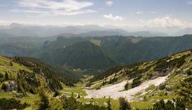 Valle delle montagne di Hochkar Fotografie Stock